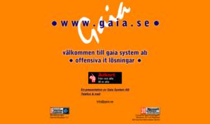 Gaias hemsida från 1996