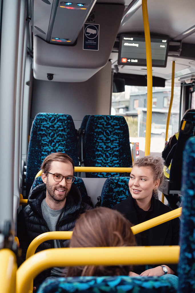 passagerare i kollektivtrafik