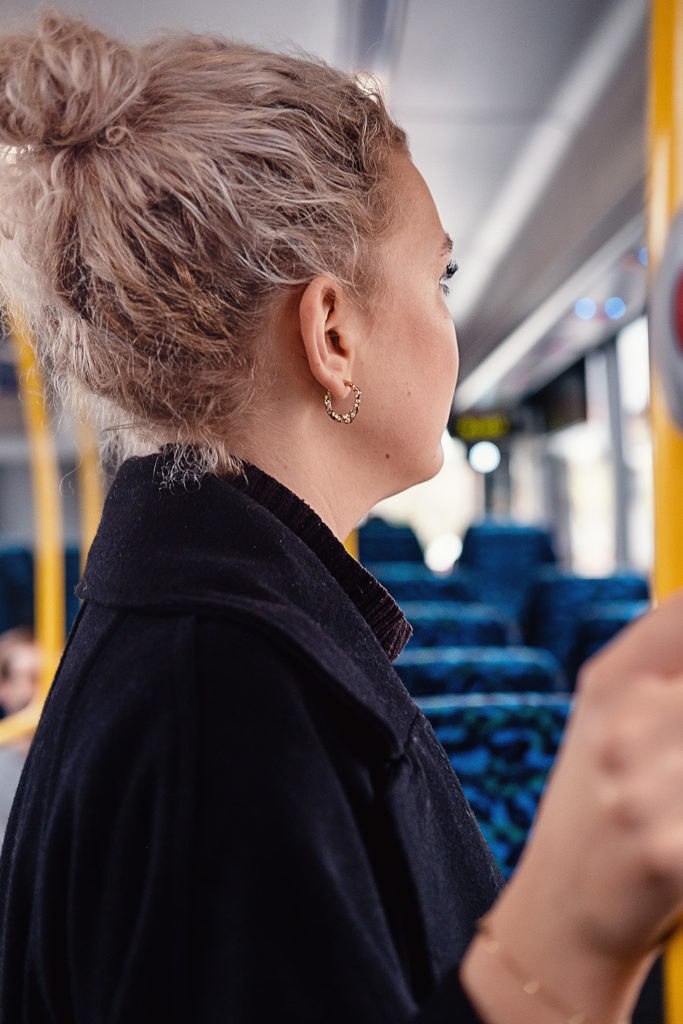 Passagerare i buss